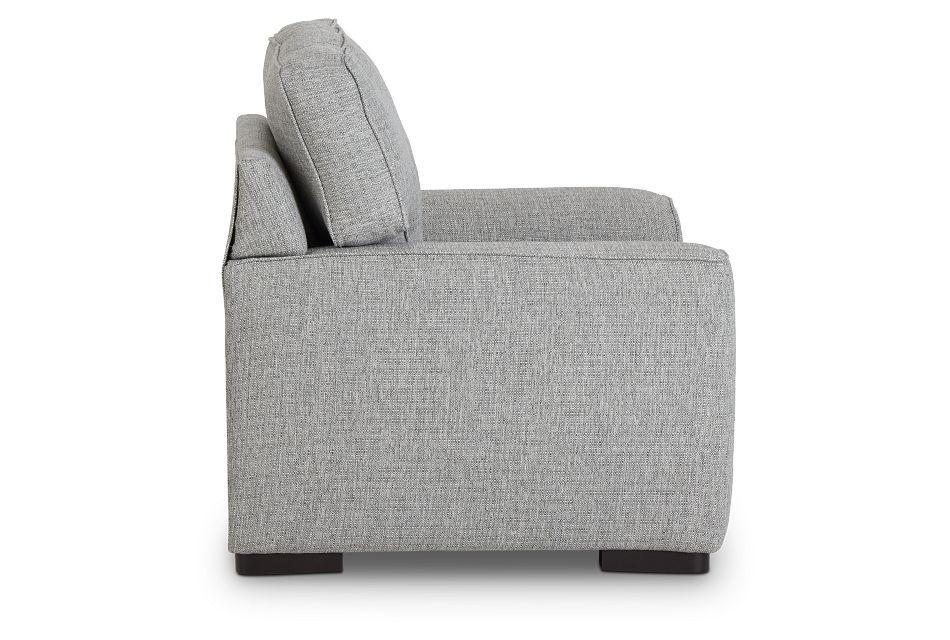 Austin Gray Fabric Chair,  (2)