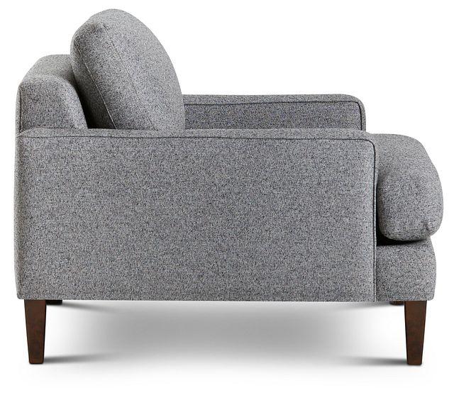 Morgan Dark Gray Fabric Chair With Wood Legs (2)
