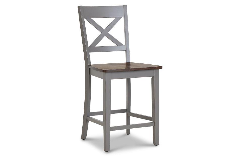 "Sumter Gray 24"" Wood Barstool,  (1)"