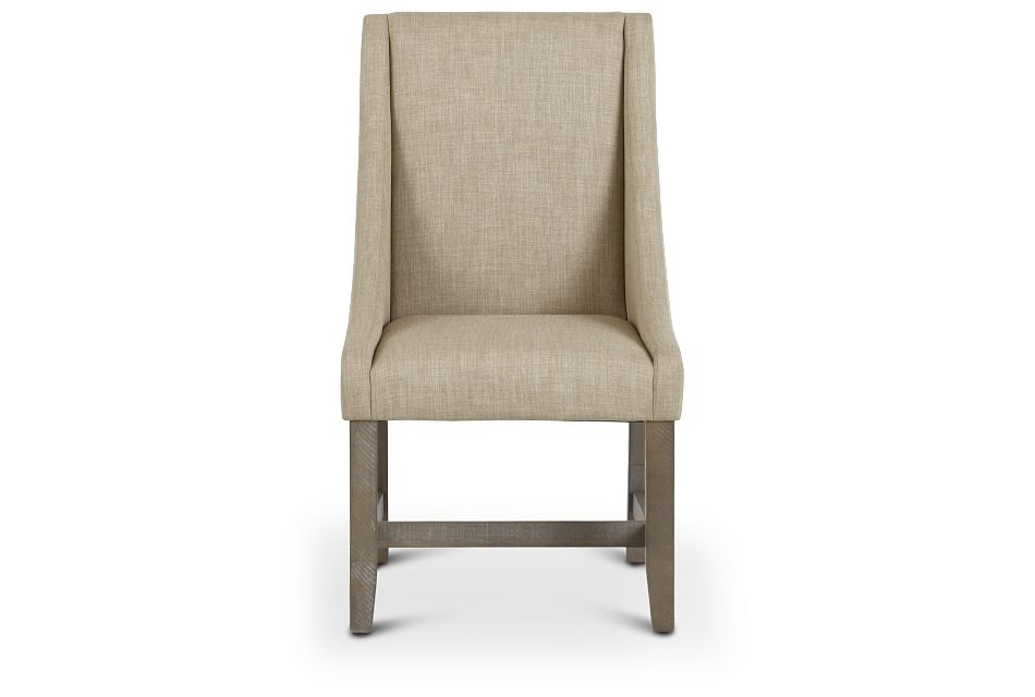 Taryn Light Taupe Upholstered Arm Chair,  (3)