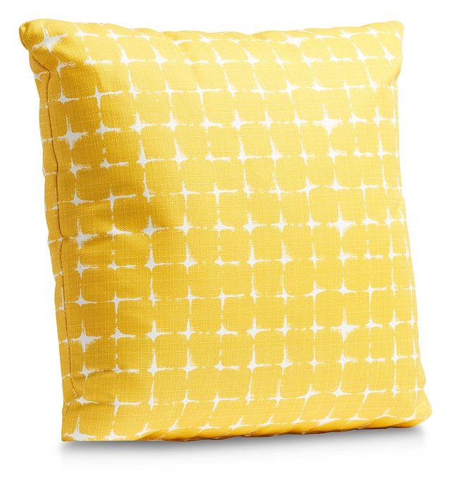 """Neptune Yellow 20"""" Indoor/outdoor Accent Pillow (1)"""