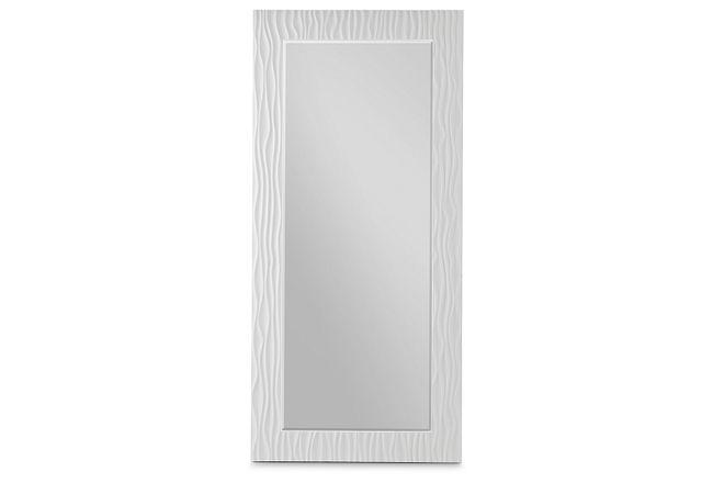 Ocean Drive White Floor Mirror