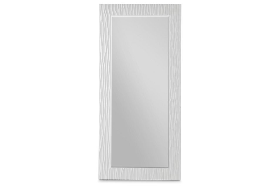 Ocean Drive White Floor Mirror
