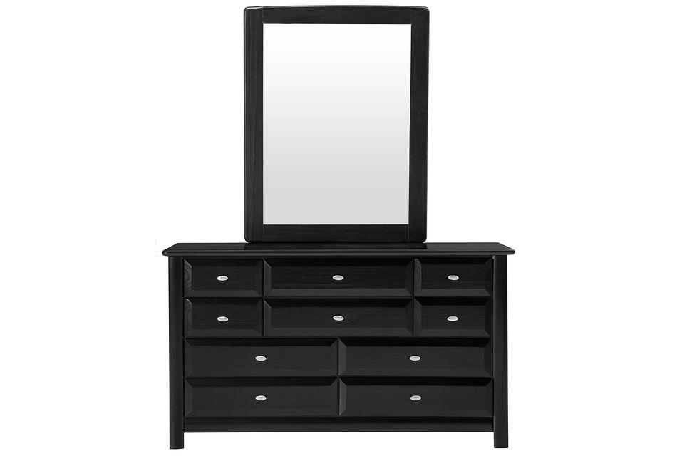Laguna Black Dresser & Mirror