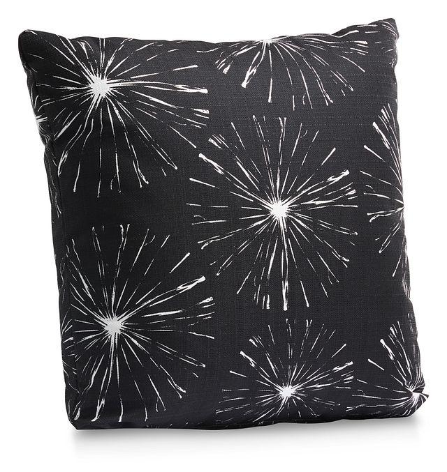 "Sparks Black 18"" Indoor/outdoor Accent Pillow (1)"