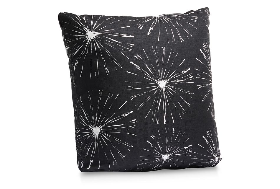 "Sparks Black 18"" Indoor/outdoor Accent Pillow"