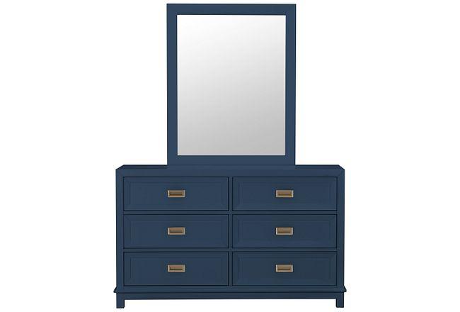 Ryder Dark Blue Dresser & Mirror