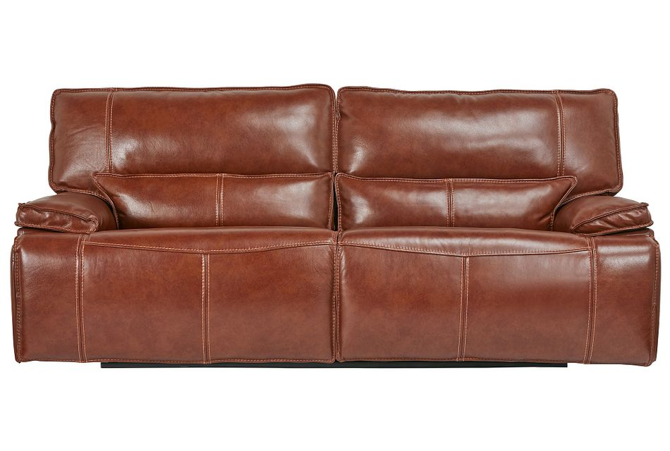 Jesse Medium Brown  Lthr/vinyl Power Reclining Sofa,  (0)