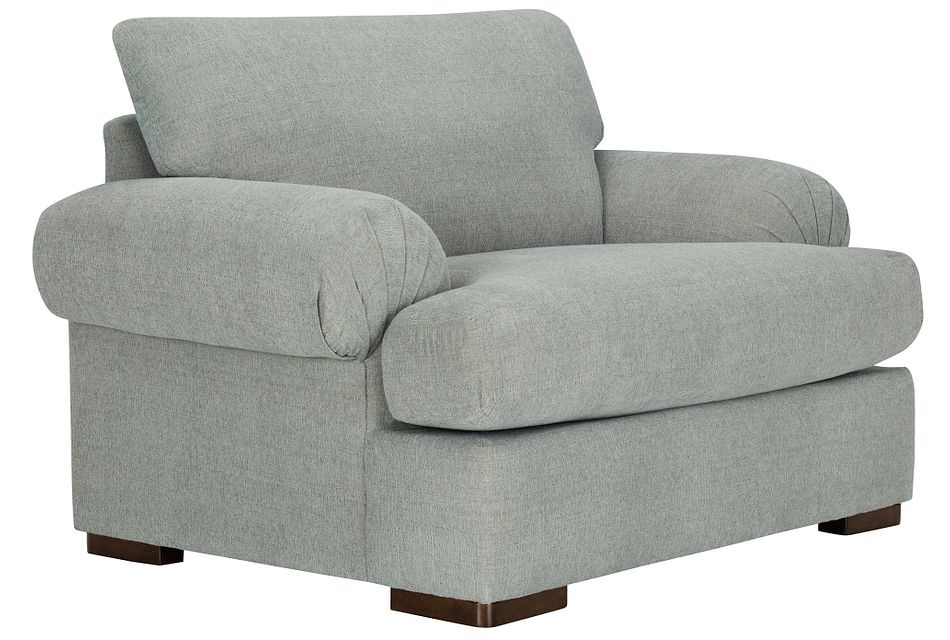 Belair Light Blue  Fabric Large Chair