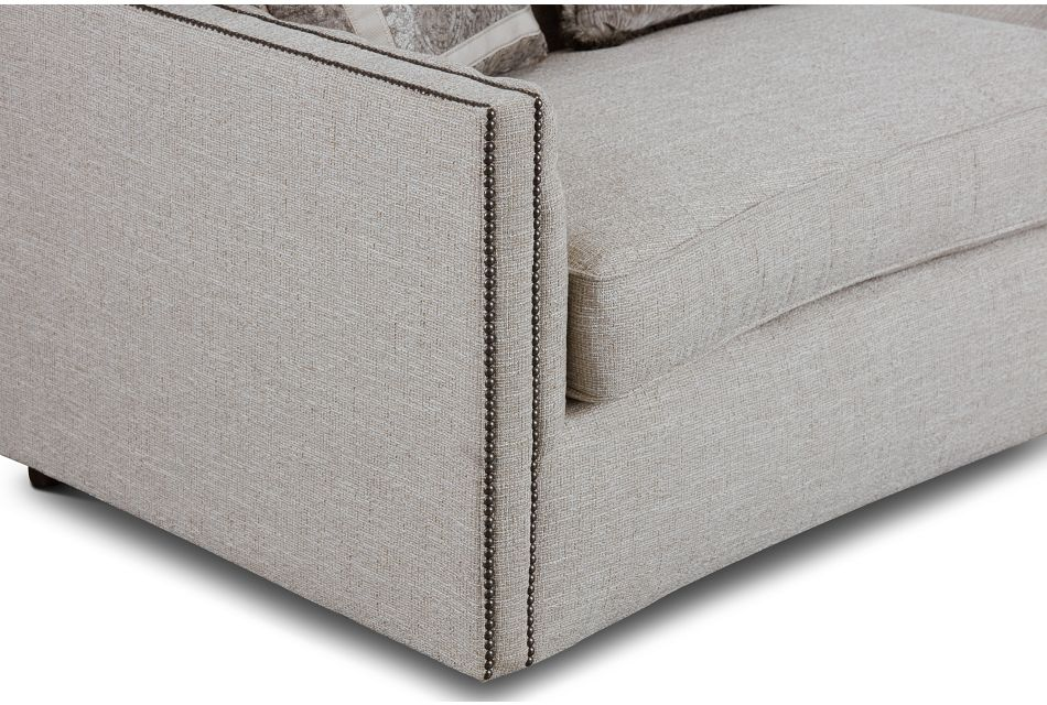 Candace Beige Fabric Sofa