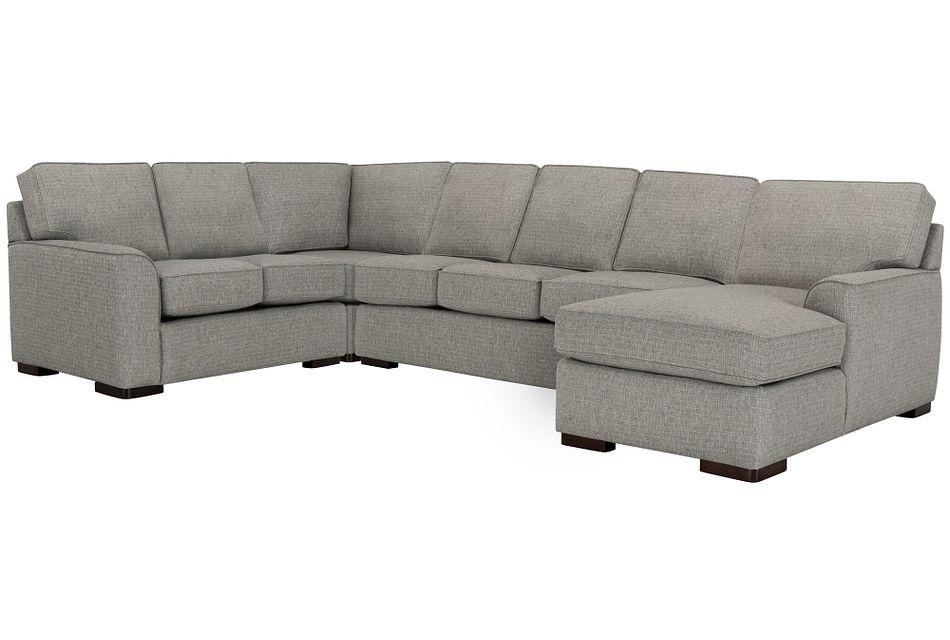 Austin GRAY FABRIC Right Chaise Memory Foam Sleeper Sectional, Full (1)
