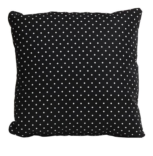 """Dots Black 18"""" Indoor/outdoor Accent Pillow (0)"""
