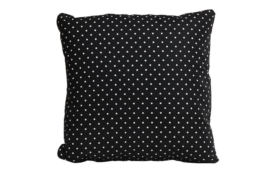 """Dots Black 18"""" Indoor/outdoor Accent Pillow"""