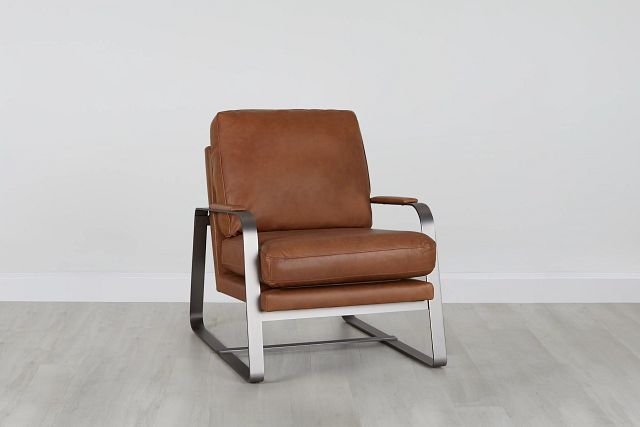 Lex Brown Leather Accent Chair (0)