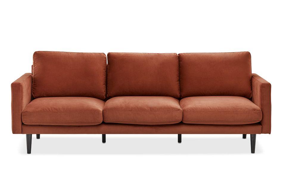 Montecito Orange Fabric Sofa