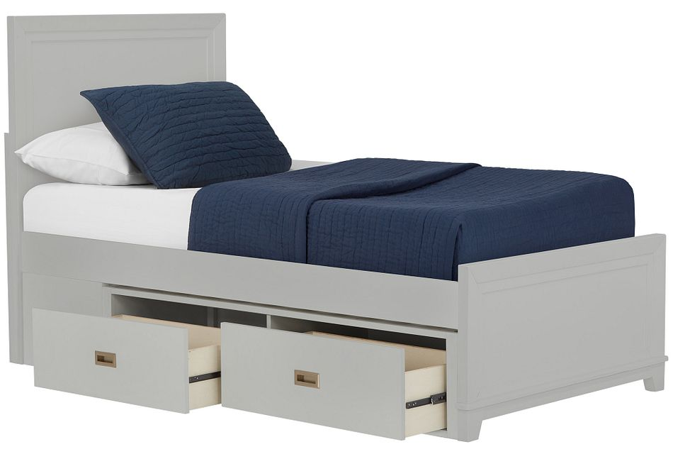 Ryder Gray Panel Storage Bed