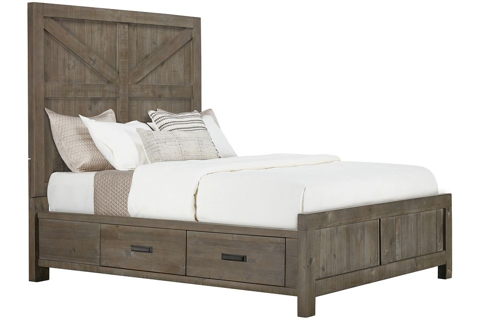 Taryn Gray Left Panel Storage Bed