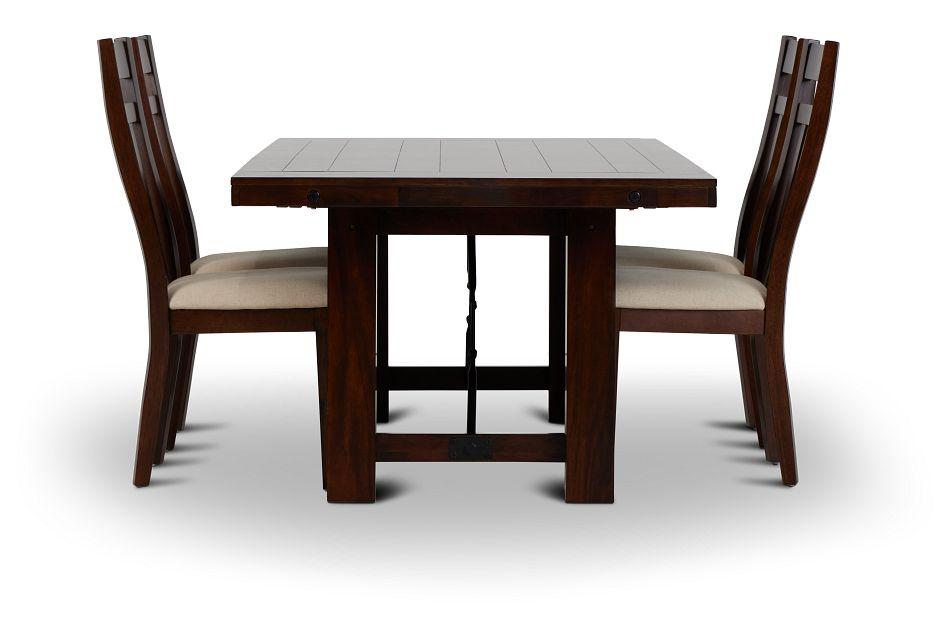 Napa Dark Tone Table & 4 Wood Chairs,  (2)