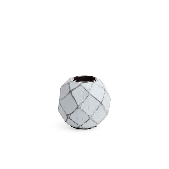 Betsy White Candle Holder (0)