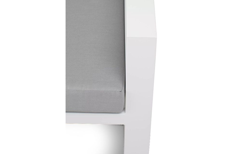 Lisbon Gray Aluminum Small Right Sectional