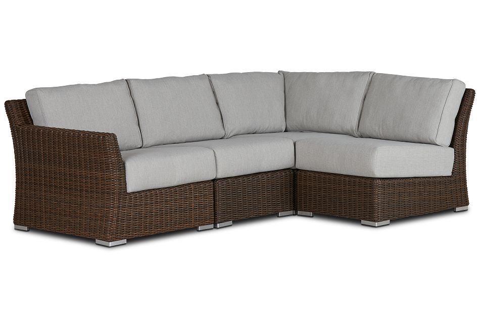 Southport Gray Left 4-piece Modular Sectional