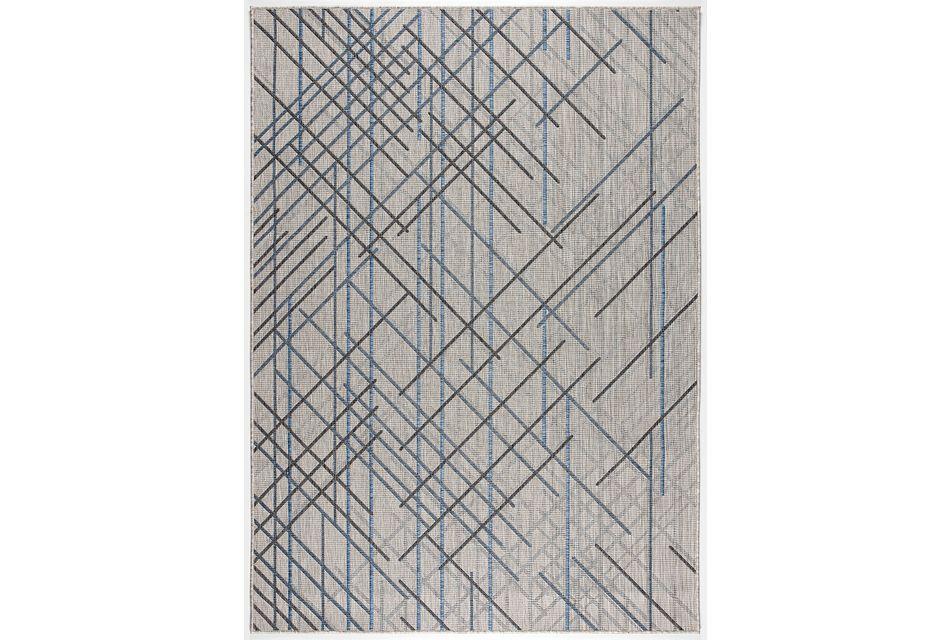 Rustica Dark Gray Indoor/outdoor 5x8 Area Rug