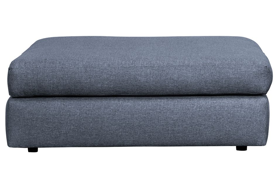 Harper Dark Blue Fabric Cocktail Ottoman