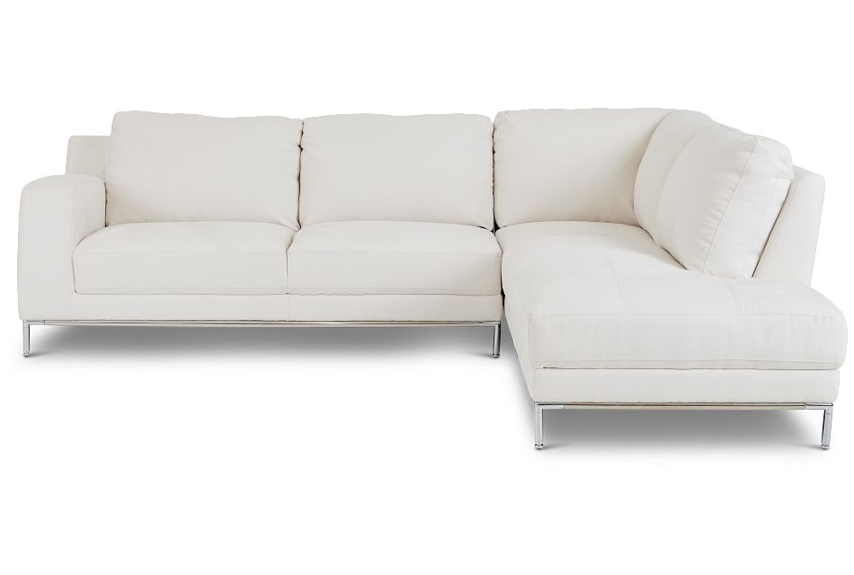Wynn White Micro Right Chaise Sectional,  (0)