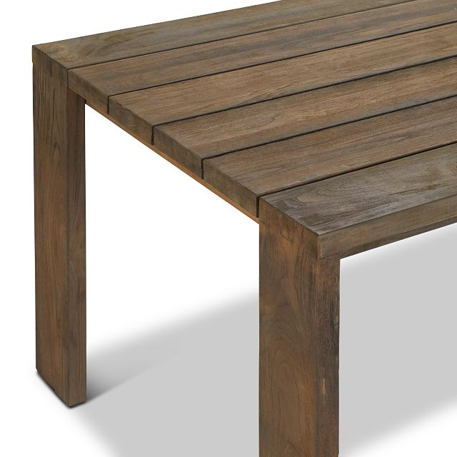 "Linear Teak 70"" Rectangular Table"