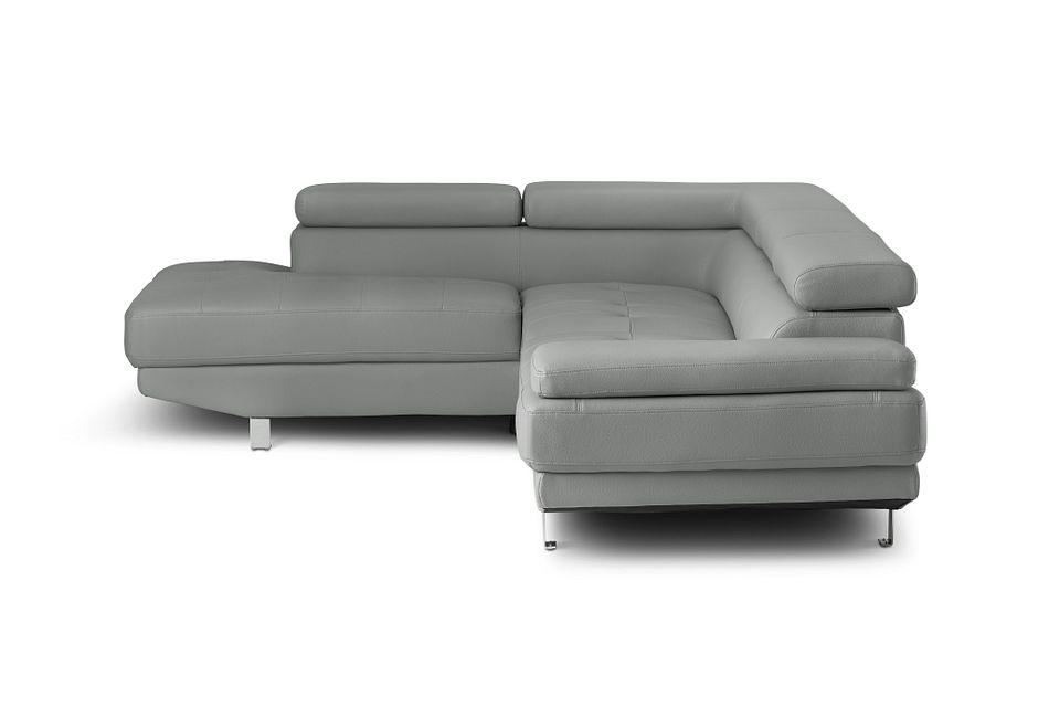 Zane Dark Gray Micro Left Chaise Sectional