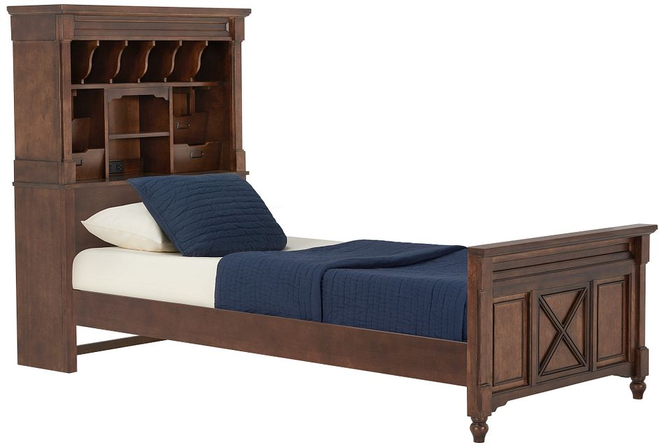 Big Sur Dark Tone Bookcase Bed