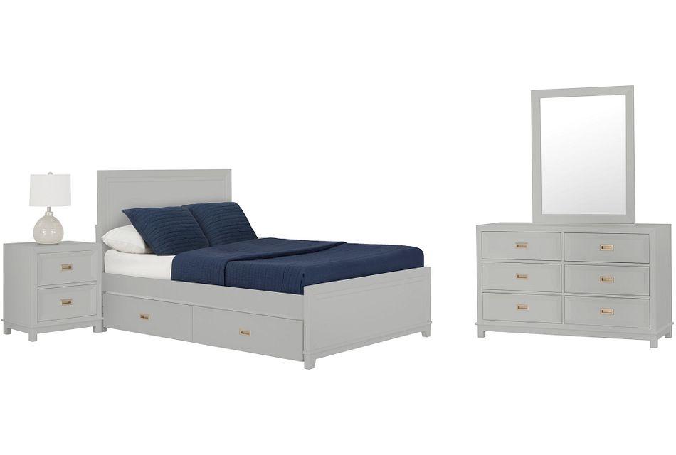 Ryder GRAY  Panel Trundle Bedroom, Full