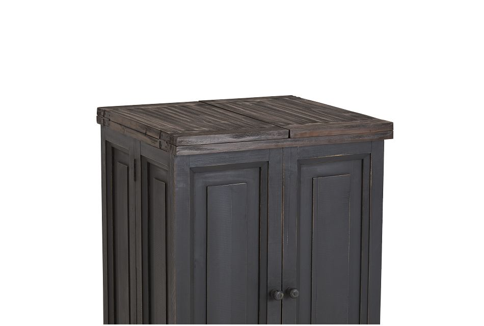 Connecticut Gray Wood Fold Out Bar