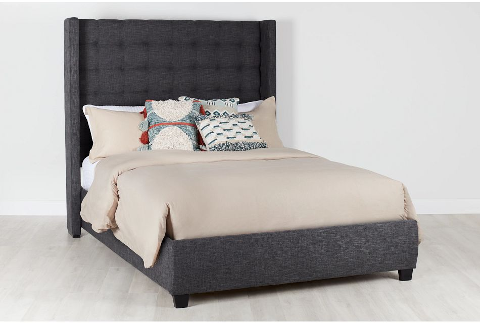 Chatham Dark Gray High Platform Bed, Queen (0)