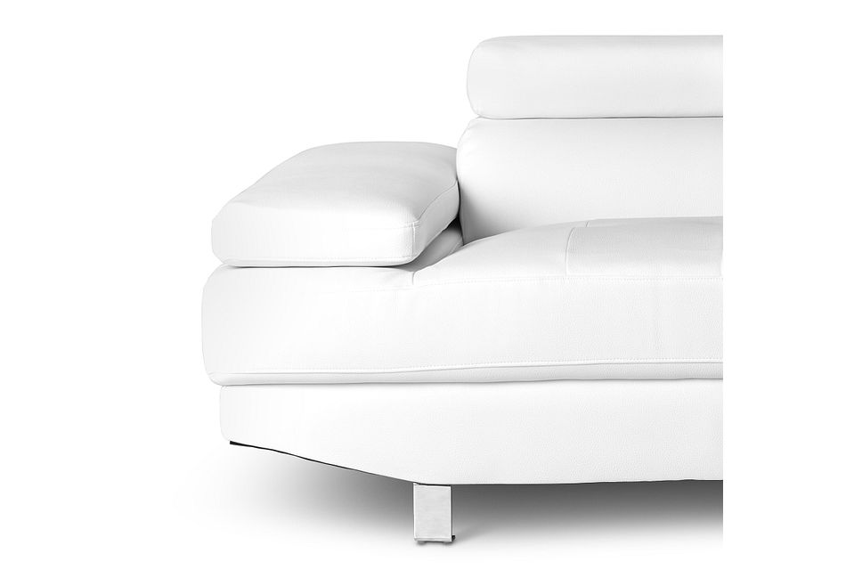 Zane WHITE MICRO Right Chaise Sectional,  (3)
