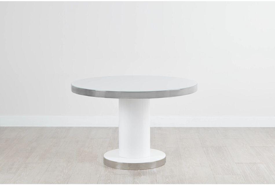 """Miami White 47"""" Round Table"""