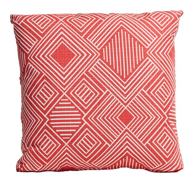 """Phase Coral 18"""" Indoor/outdoor Accent Pillow (0)"""