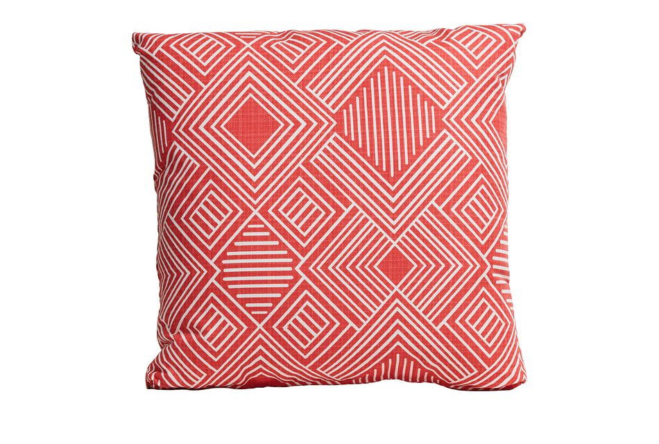"Phase Coral 18"" Indoor/outdoor Accent Pillow"