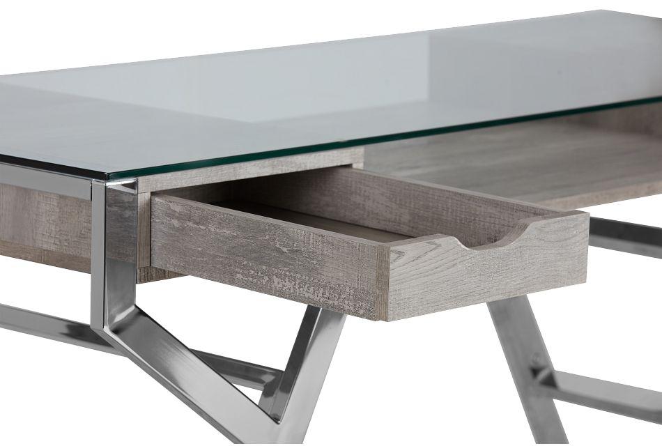 Lovett Light Gray Writing Desk