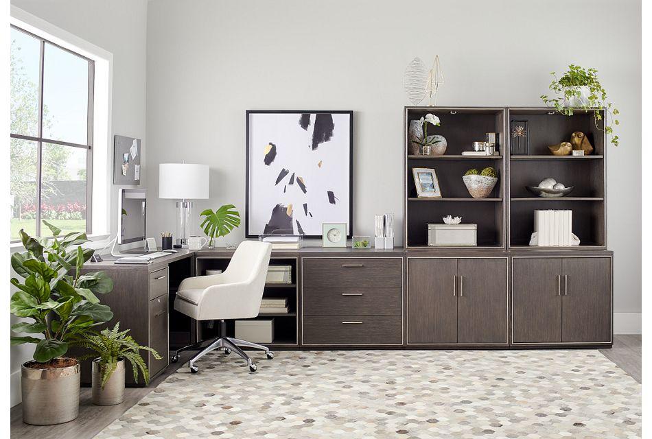 Highline Dark Tone 5 Piece L Desk,  (2)