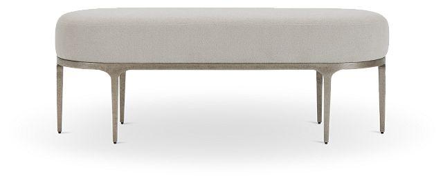 Linea Upholstered Metal Bench (1)