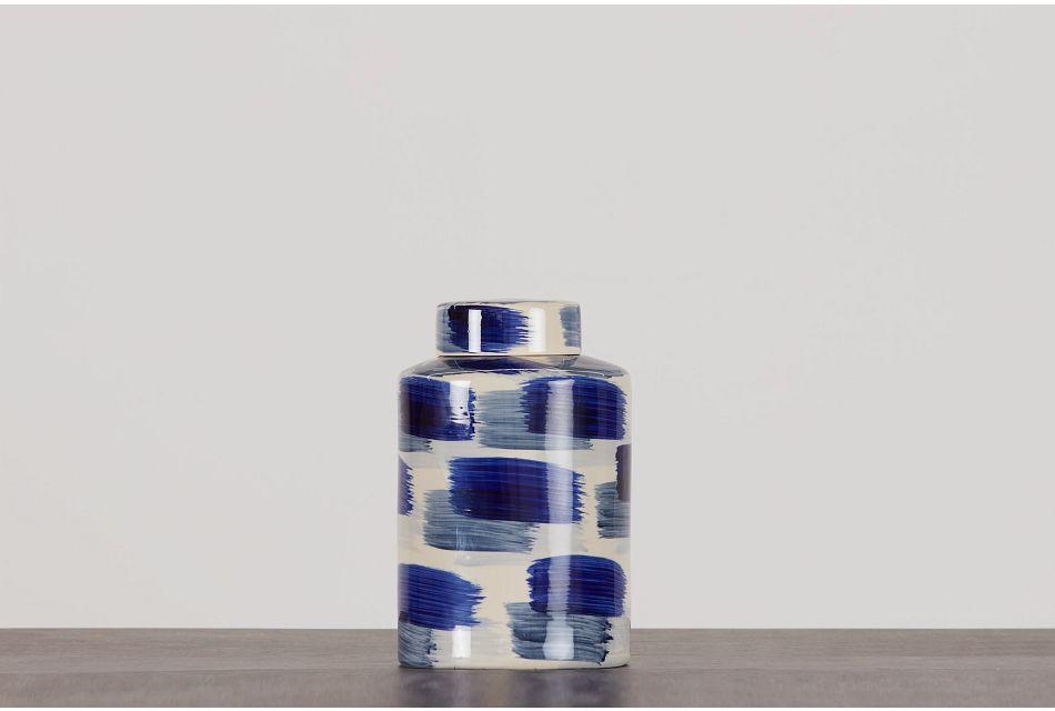 Alula Large Dk Blue Jar,  (0)