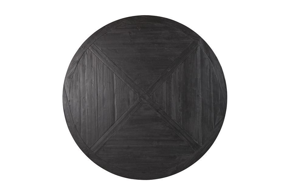 "Hadlow Black 72"" Round Table"