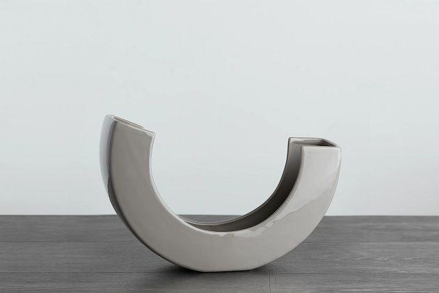 Teegan Gray Curved Vase (0)