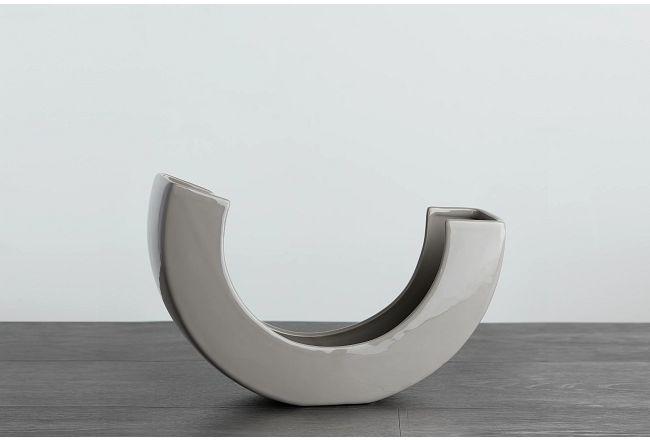 Teegan Gray Curved Vase