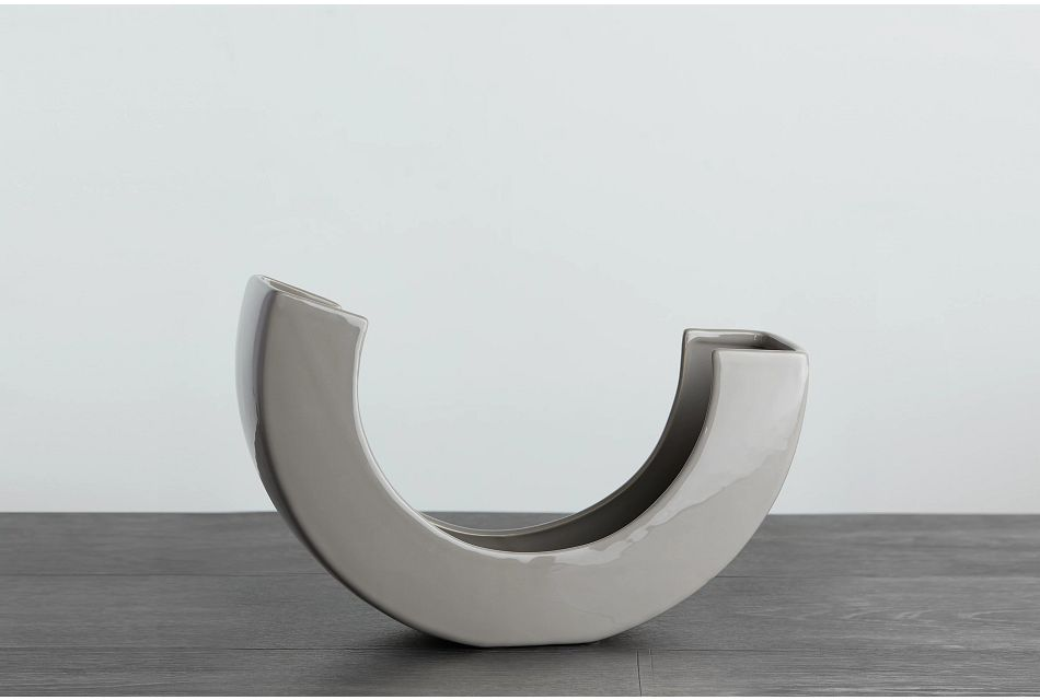 Teegan Gray Curved Vase