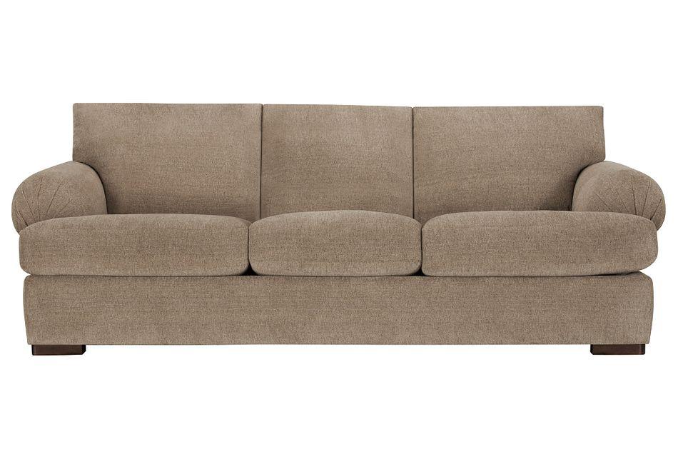 Belair Dark Taupe Fabric Sofa