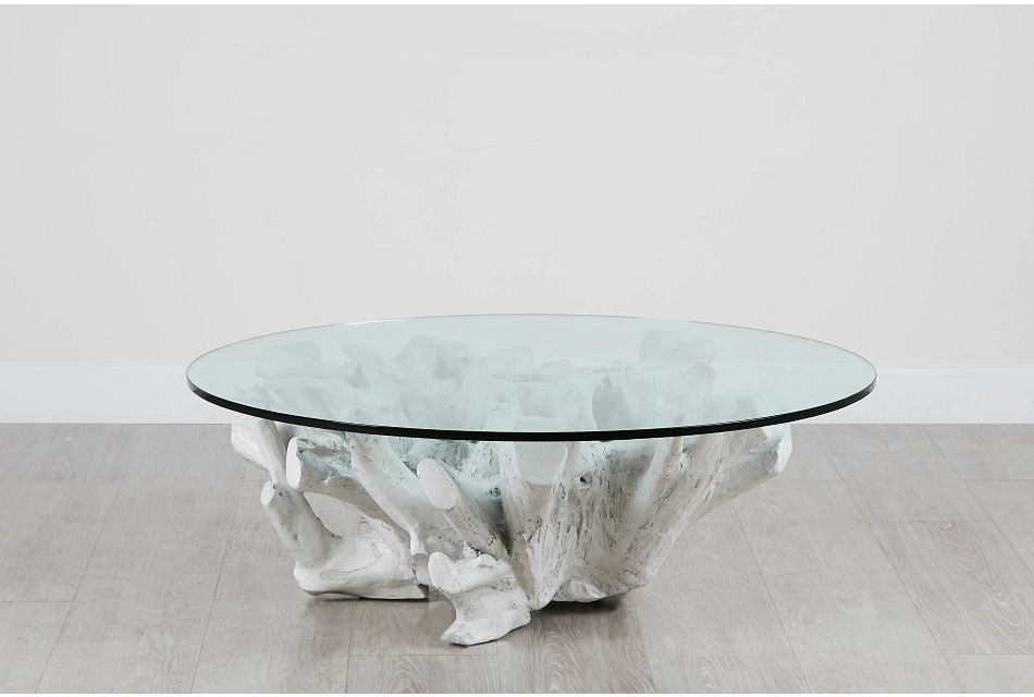 Ocean Drive Glass Round Coffee Table