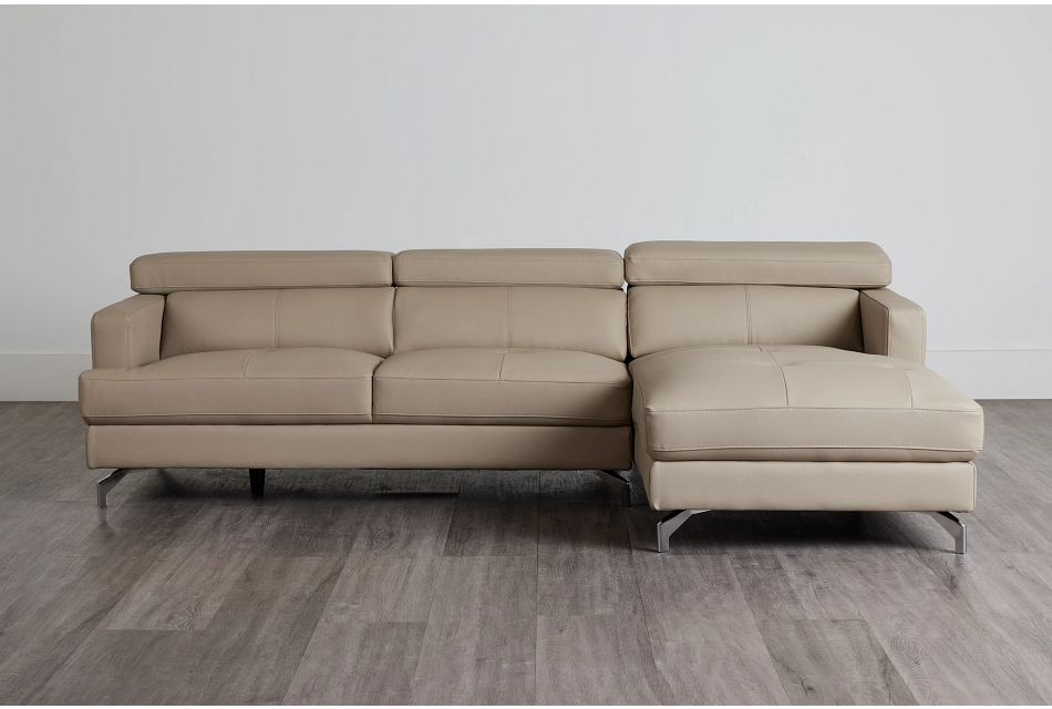 Marquez Taupe Micro Right Chaise Sectional,  (0)