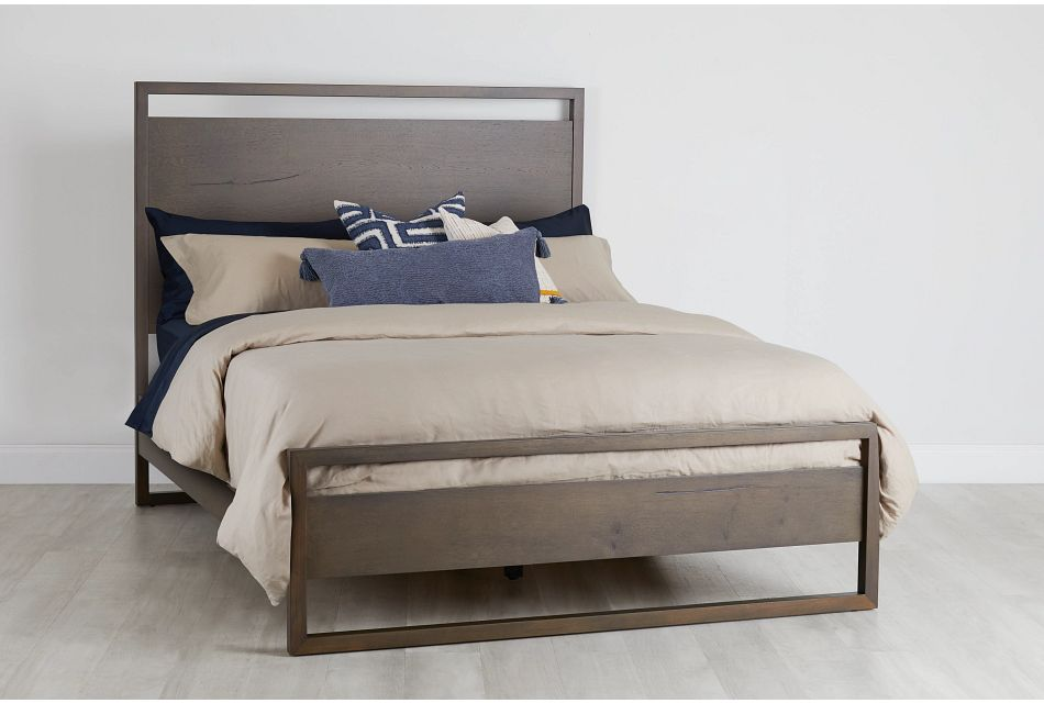 Prague Dark Tone Panel Bed